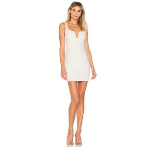 NWOT By the Way Cici Square Neck Mini Dress Ivory